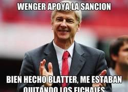Enlace a Wenger está muy disgustado con el Barcelona...