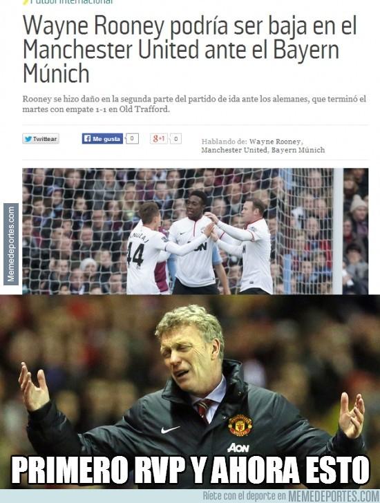 293537 - Rooney podría ser baja ante el Bayern de Munich