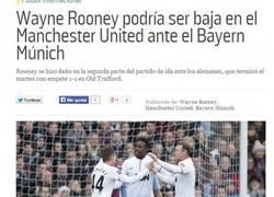 Enlace a Rooney podría ser baja ante el Bayern de Munich