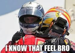 Enlace a Vettel ya sabe lo que es no tener el coche más rápido