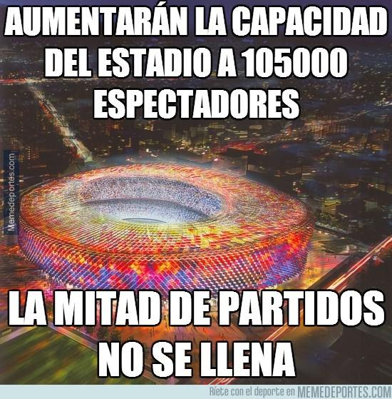 294253 - Aumentarán la capacidad del Camp Nou a 105.000 espectadores