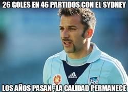 Enlace a Del Piero, 26 goles en 46 partidos con el sydney