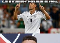 Enlace a Klose se queda a las puertas del récord de Ronaldo