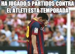 Enlace a Messi, el Atlético no es lo tuyo
