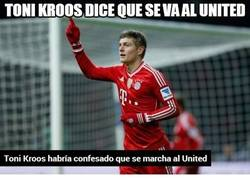 Enlace a Toni Kroos dice que se va al United