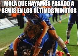 Enlace a Por la cara de David Luiz, no lo está pasando muy bien