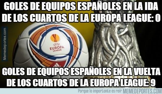 297017 - Goles de equipos españoles en la ida de los cuartos de la Europa League: 0