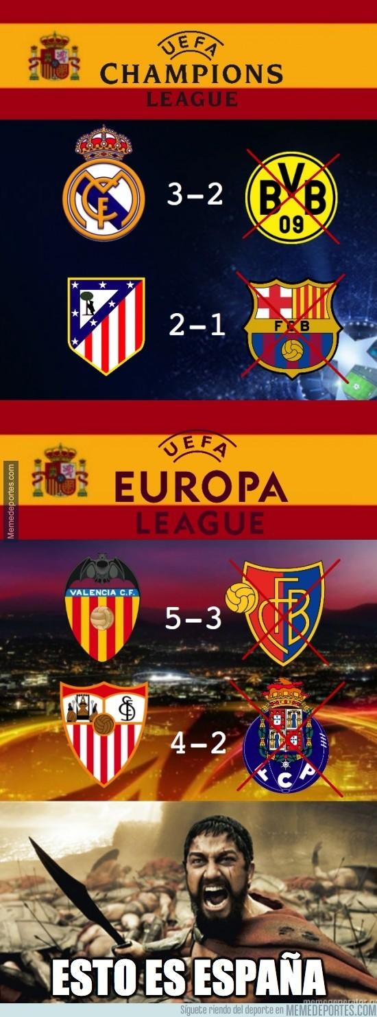 297127 - 4 de 8 equipos en semifinales europeas son españoles