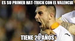 Enlace a Es su primer hat-trick con el Valencia