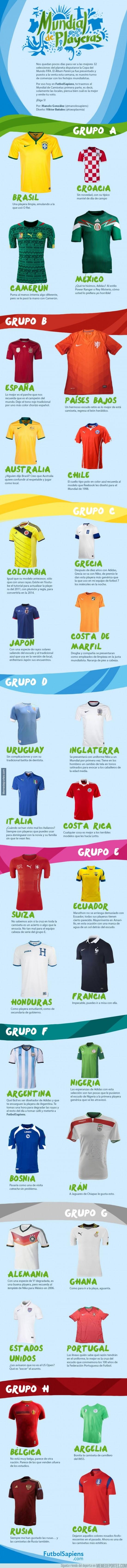 297789 - Si tuvieras que ponerte una camiseta de las del Mundial ¿Cuál sería?