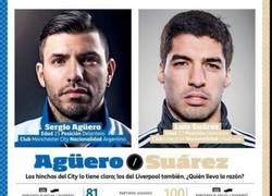 Enlace a Kun Agüero vs Luis Suárez. El superduelo de la jornada ¿Quién ganará?