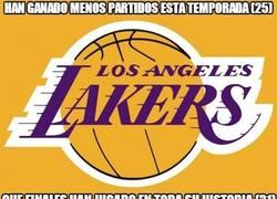 Enlace a Un record inaudito de los Angeles Lakers. Y no por bueno que digamos