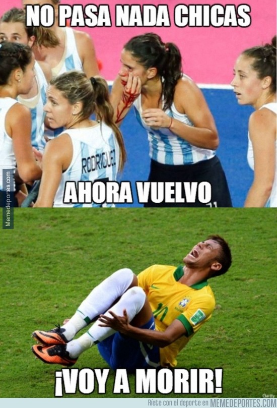 299160 - Hasta las niñas se quejan menos que Neymar