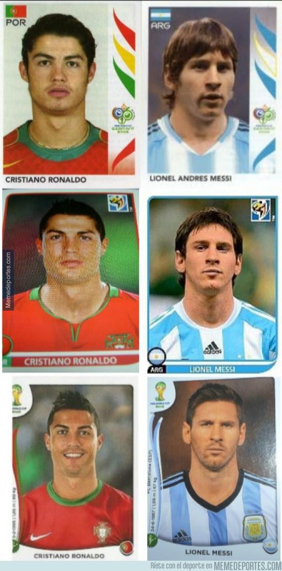 299575 - Lo que hacen los años y el dinero. El cambio de aspecto de Cristiano y Messi