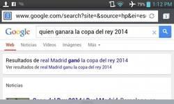 Enlace a Google sabe quién ganará la Copa del Rey antes que nadie