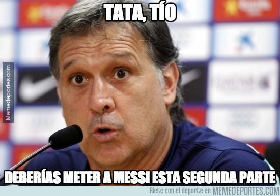 299995 - El Tata debería meter a Messi en el campo esta segunda parte