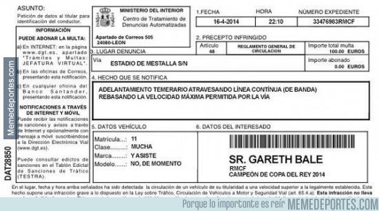 300550 - La multa de ayer a Gareth Bale