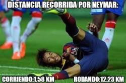 Enlace a Distancia recorrida por Neymar en el partido de anoche