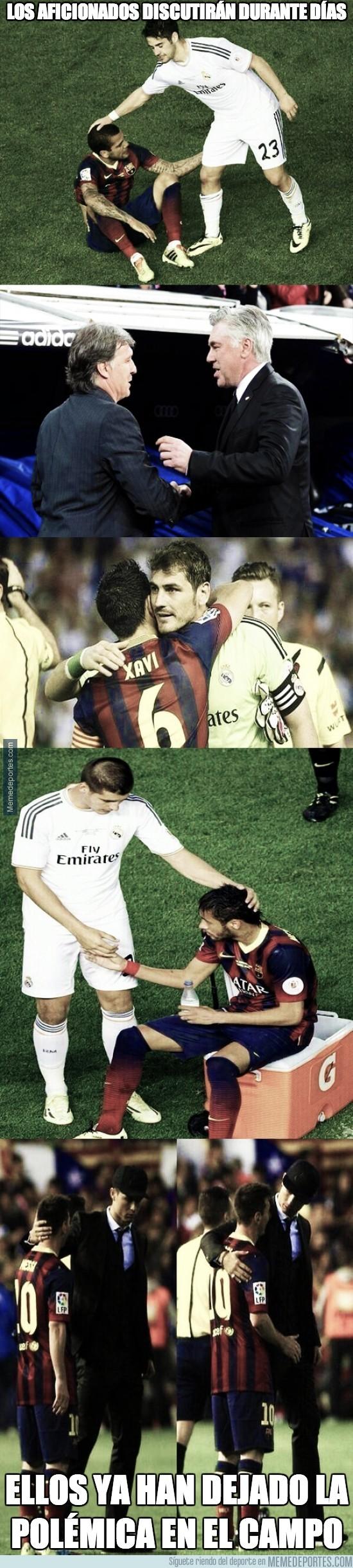 301091 - Éstas son las imágenes más reconciliadoras tras la final de Copa del Rey