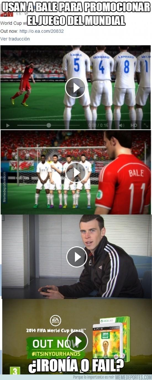 301244 - Usan a Bale para promocionar el juego del Mundial