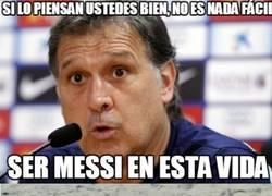 Enlace a ¿Te imaginas ser Messi por 1 día? Según el Tata es muy difícil