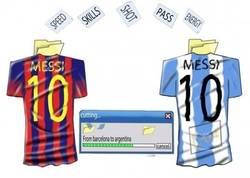 Enlace a Messi preparándose para el Mundial