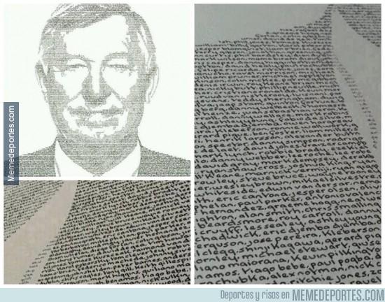 302079 - Cuántos jugadores conoces del retrato de Sir Alex Ferguson