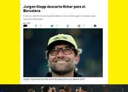 Enlace a Jurgen Klopp descarta la idea de entrenar al Barcelona