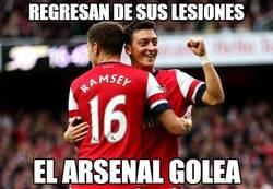 Enlace a Al Arsenal le faltaban Özil y Ramsey en plena forma