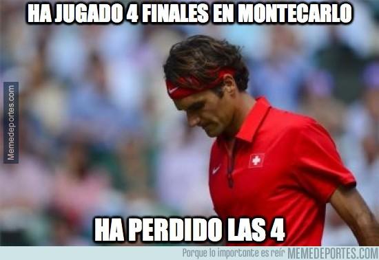302706 - Federer ha jugado 4 finales en Montecarlo, la última contra Wawrinka