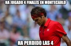 Enlace a Federer ha jugado 4 finales en Montecarlo, la última contra Wawrinka