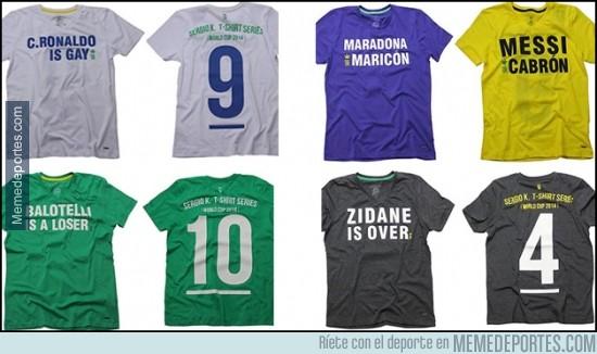 303184 - En Brasil ya están listos para insultar a estos cracks con camisetas