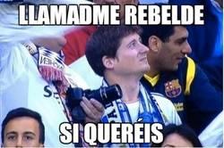 Enlace a Rebelde aficionado del Barça se cuela en el Bernabeu