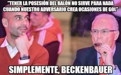 Enlace a Beckenbauer rajando de Pep