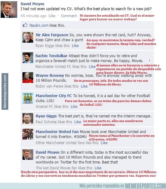 305112 - Facebook de Moyes el día de su despido