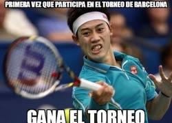 Enlace a Nishikori gana el Conde de Godó