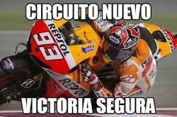 Enlace a Circuito nuevo, victoria segura para Márquez