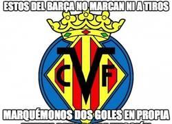 Enlace a El Villareal ayudando al Barça como puede