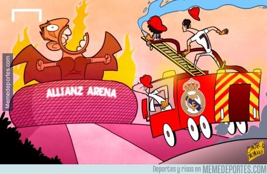 308165 - El Madrid tratará de apagar hoy el fuego del Allianz Arena