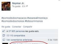 Enlace a Neymar, tú no eres un macaco, tú eres un delfín
