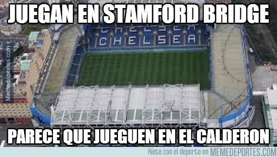 309815 - Brutal la afición del Atleti en Stamford Bridge