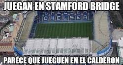 Enlace a Brutal la afición del Atleti en Stamford Bridge