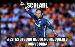 Enlace a Scolari, convoca a Diego Alves. Primer aviso