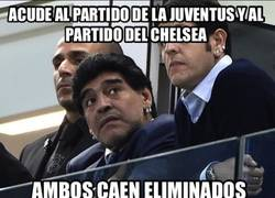 Enlace a Maradona, das mala suerte