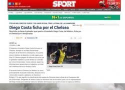 Enlace a Sport vendiendo mucho humo diciendo que el Chelsea ha fichado a Costa.