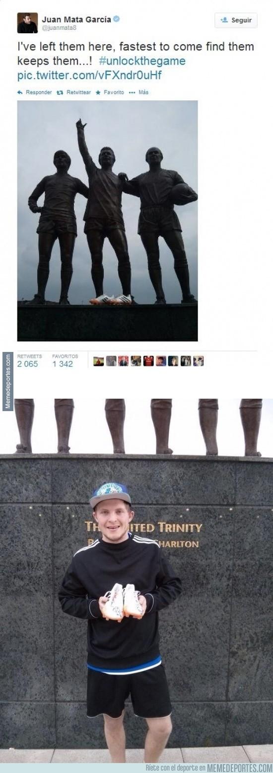 311426 - ¡Y este tío fue el que encontró las botas que regaló Mata!