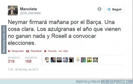 311724 - Flipando. Manolete predijo el desastre del Barça hace un año