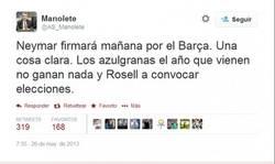 Enlace a Flipando. Manolete predijo el desastre del Barça hace un año