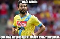 Enlace a Raúl Albiol, con más títulos que el B, arça esta temporada