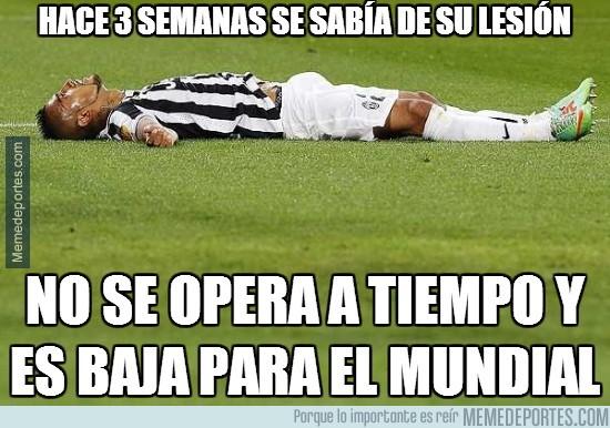 313925 - Salvo milagro, Arturo Vidal se perderá el Mundial. Un problema menos para España